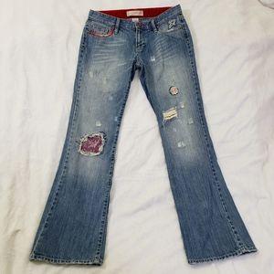 Old Navy Boot Cut Medium Wash Distress Denim Jeans